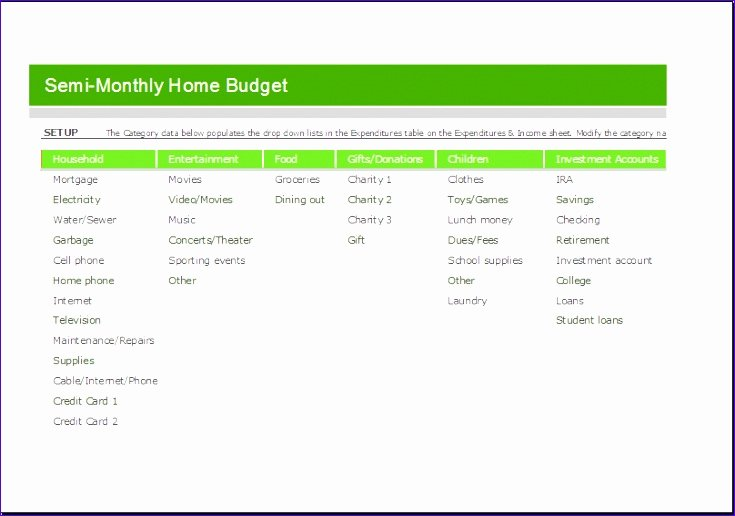 Semi Monthly Budget Template Lovely 8 Employee Annual Leave Record Spreadsheet