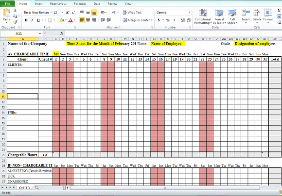 Semi Monthly Timesheet Template Excel Best Of Timesheet format In Excel Free Download