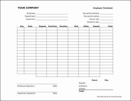Semi Monthly Timesheet Template Excel Inspirational Free Semi Monthly Timesheet Landscape From formville