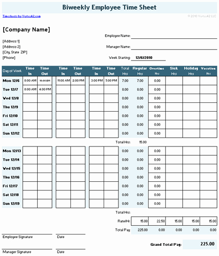 Semi Monthly Timesheet Template Excel Luxury Time Sheet Template for Excel Timesheet Calculator