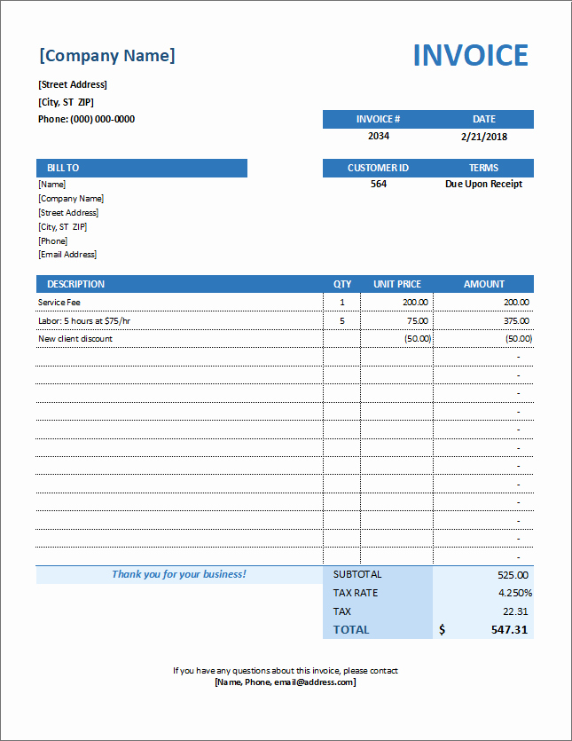 Service Invoice Template Pdf Fresh Service Invoice Template for Consultants and Service Providers
