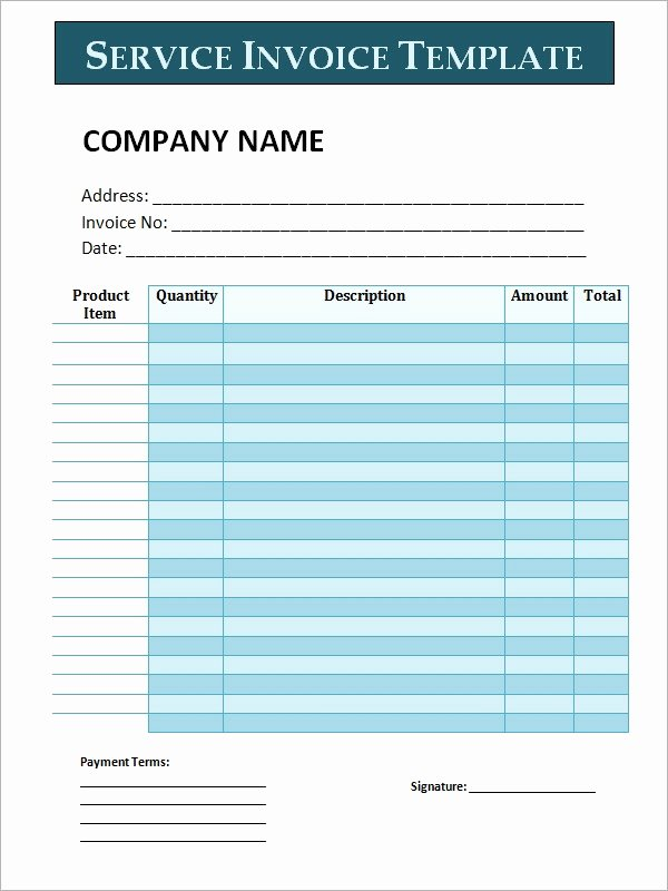Service Invoice Template Pdf Luxury Free 29 Printable Service Invoice Templates In Google