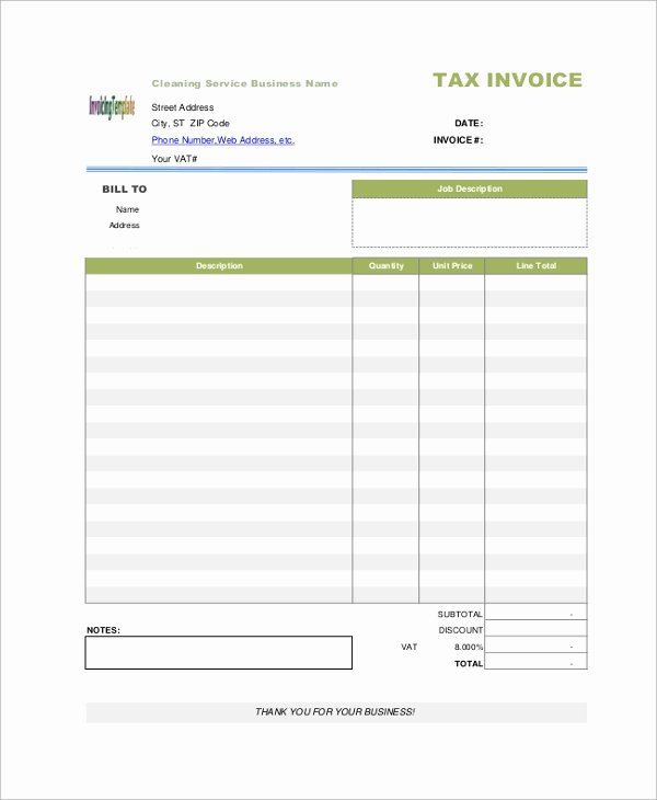 Service Invoice Template Pdf New 10 Sample Blank Invoices Ai Psd Google Docs Apple Pages