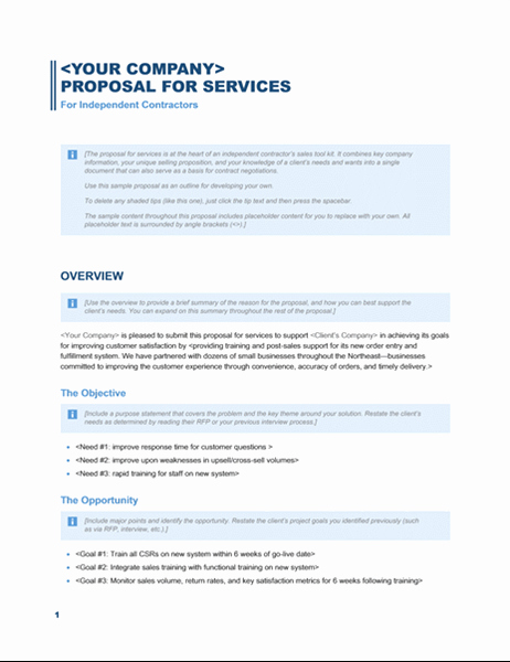 Service Proposal Template Word Best Of Services Proposal Business Blue Design