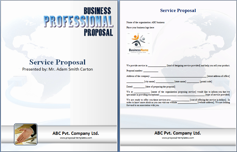 Service Proposal Template Word New Service Proposal Word Doc