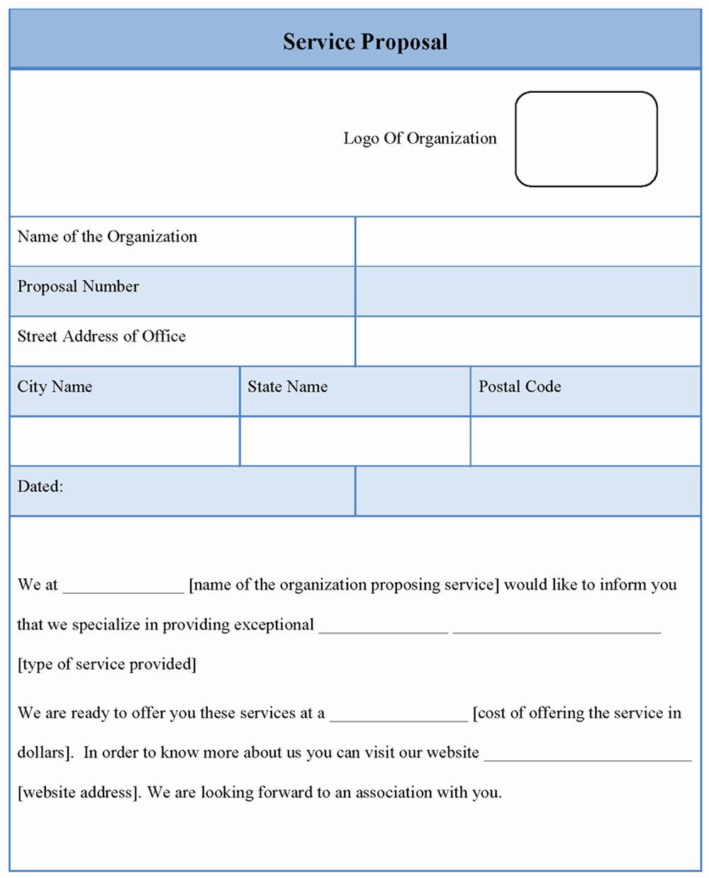 Service Proposal Template Word Unique Proposal Template for Service Sample Of Service Proposal