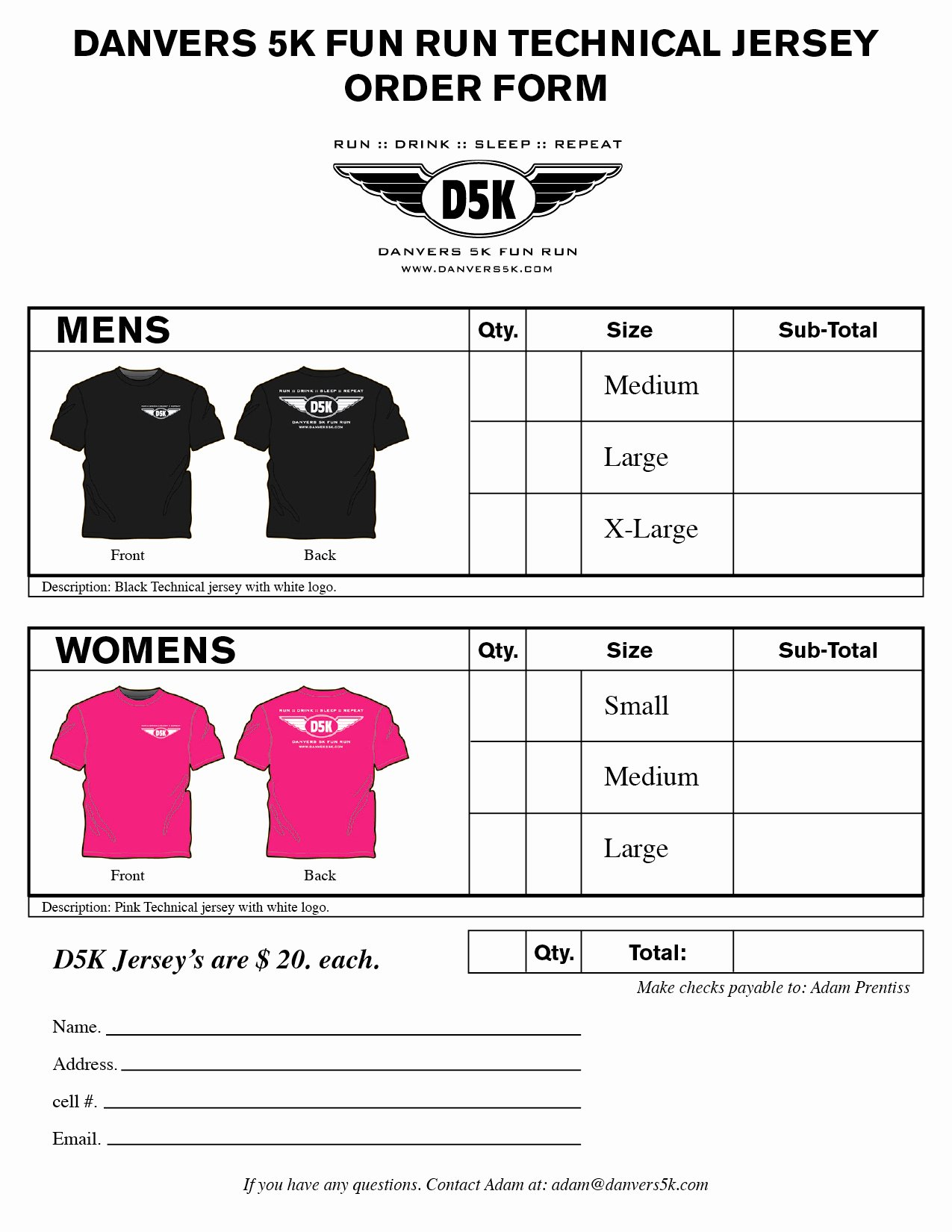 Shirt order form Templates Beautiful T Shirt order form Template