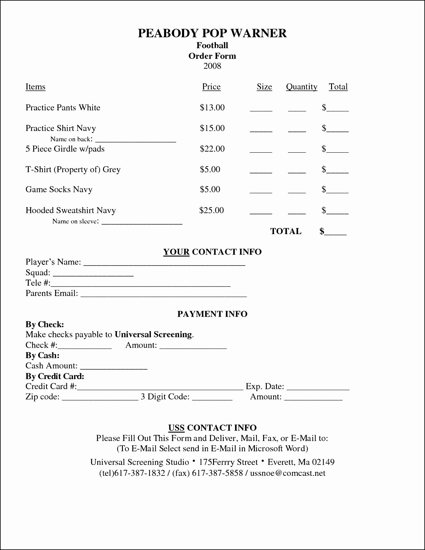 Shirt order form Templates Lovely T Shirt order form Template Microsoft Word Sample