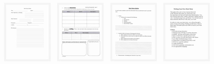 Short Story Template Word Elegant Short Story Outline Template 7 Worksheets for Word Pdf