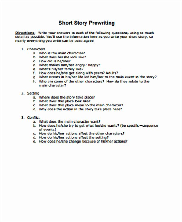 Short Story Template Word Fresh 3 Short Story Outline Templates