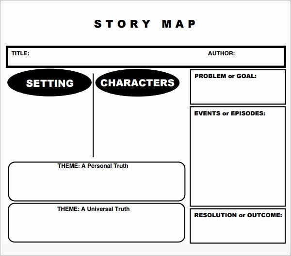Short Story Template Word Lovely Story Map 7 Free Pdf Download