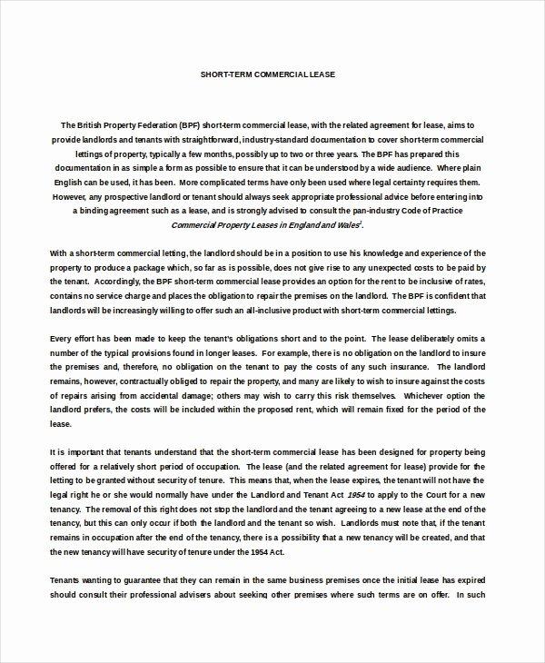 Short Term Rental Agreement Template Beautiful 16 Property Rental Agreement Templates Doc Pdf