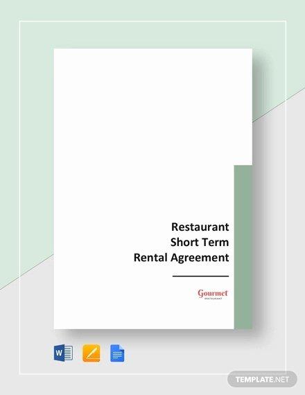 Short Term Rental Agreement Template Best Of 17 Short Term Rental Agreement Templates Pdf Doc