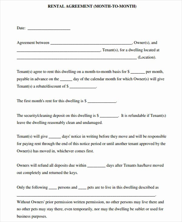 Short Term Rental Agreement Template Best Of 44 Agreement form Samples Word Pdf