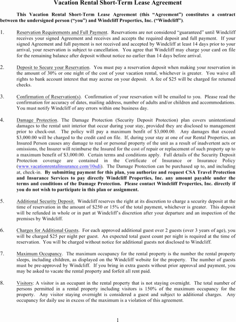 Short Term Rental Agreement Template Best Of Download Month to Month Rental Agreement for Free