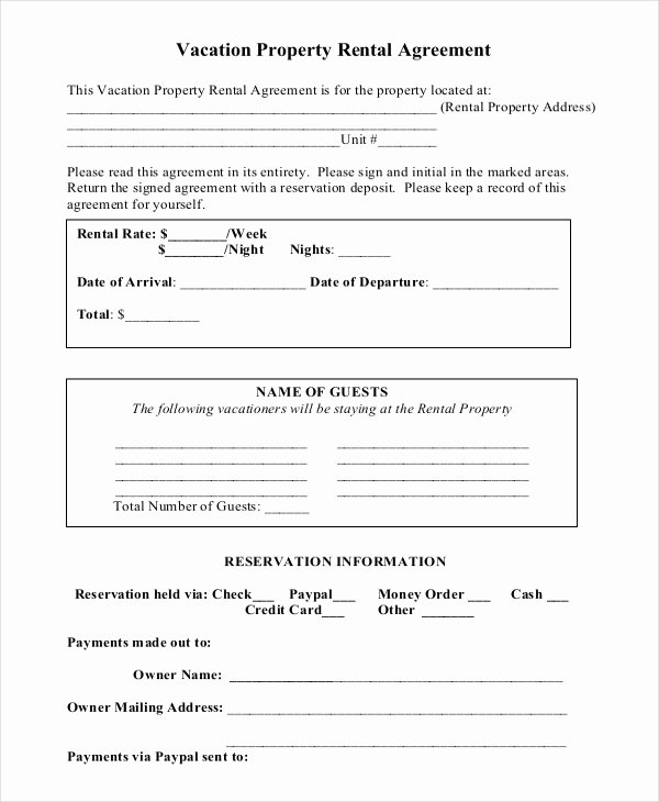 Short Term Rental Agreement Template Luxury Short Lease Agreement – Business form Letter Template