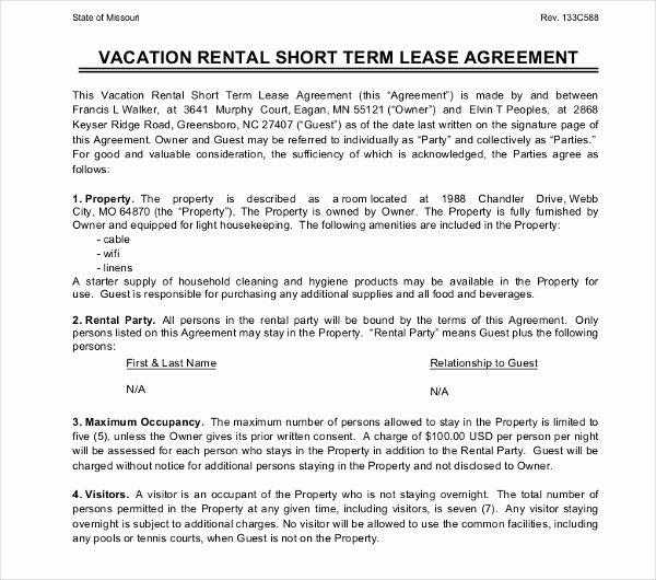 Short Term Rental Agreement Template New 17 Short Term Rental Agreement Templates Pdf Doc