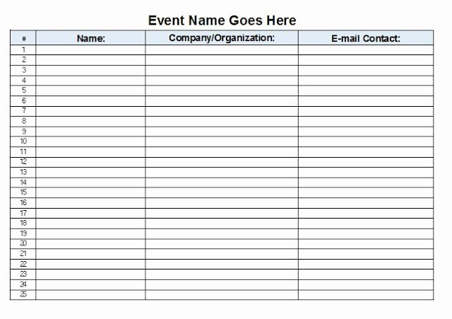 Sign In Sheet Template Excel Fresh the Admin Bitch Download Free event Sign In Sheet