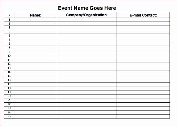 Sign In Sheet Template Excel Unique 12 Sign F Sheet Template Excel Exceltemplates