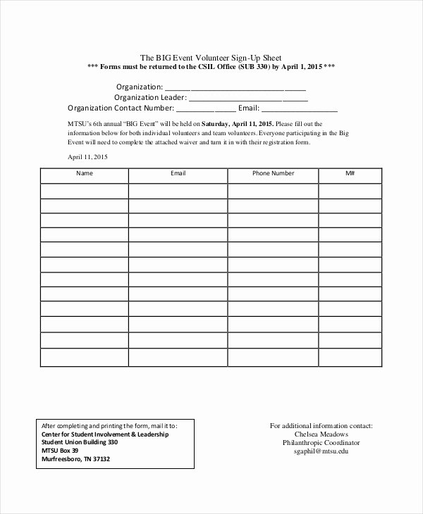 Sign In Sheet Template Pdf Fresh event Sign Up Sheet
