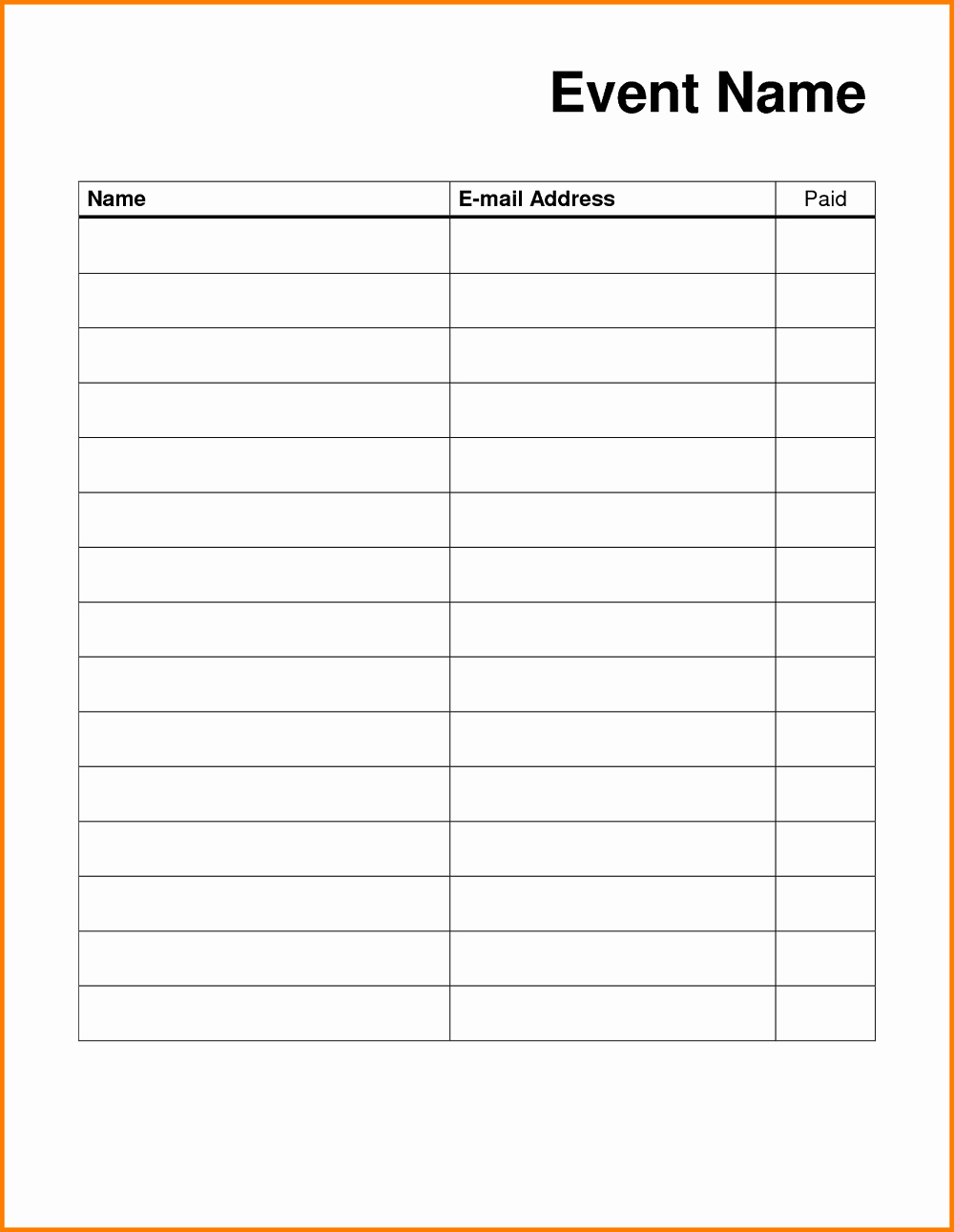 Sign In Sheet Template Pdf Lovely Blank Sign Up Sheet Printable