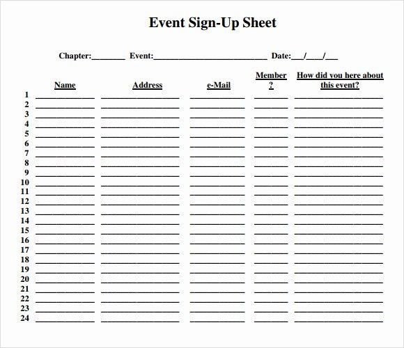 Sign Up Sheet Template Free Elegant Free 16 Sign Up Sheet Samples In Google Docs