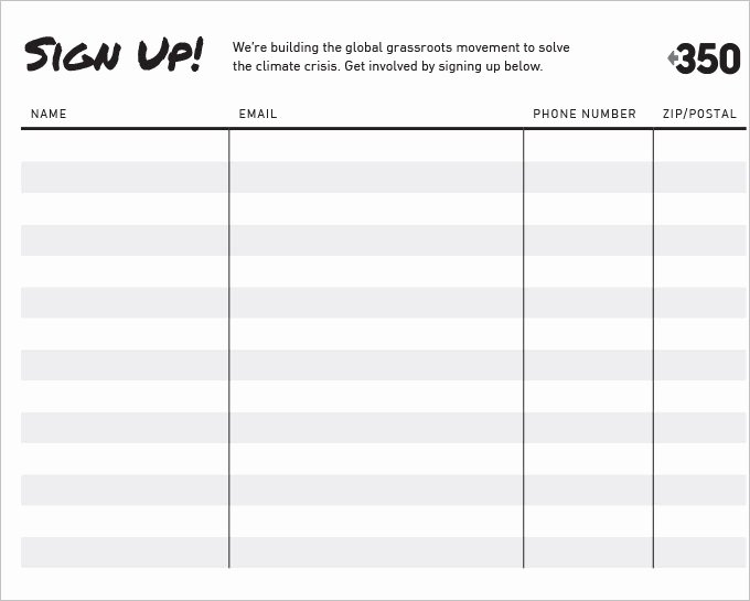 Sign Up Sheet Template Free Luxury Sign Up Sheets 58 Free Word Excel Pdf Documents