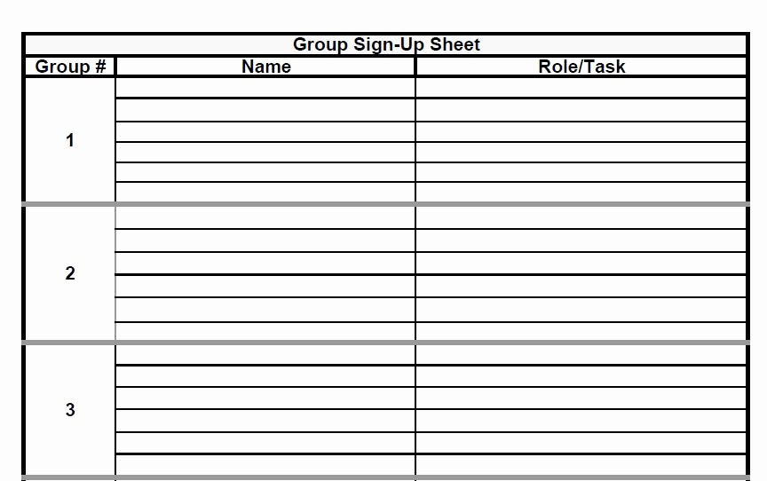 Sign Up Sheet Template Free Unique the Admin Bitch Download Group Project Sign Up Sheet