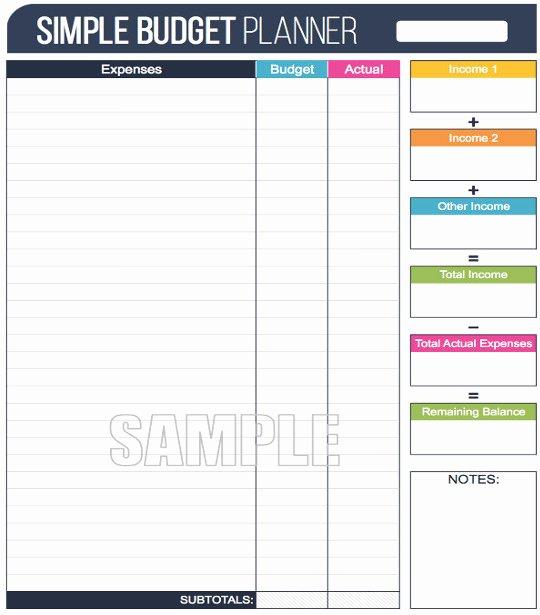 Simple Business Budget Template Elegant 12 Simple Bud Templates Free Sample Example format