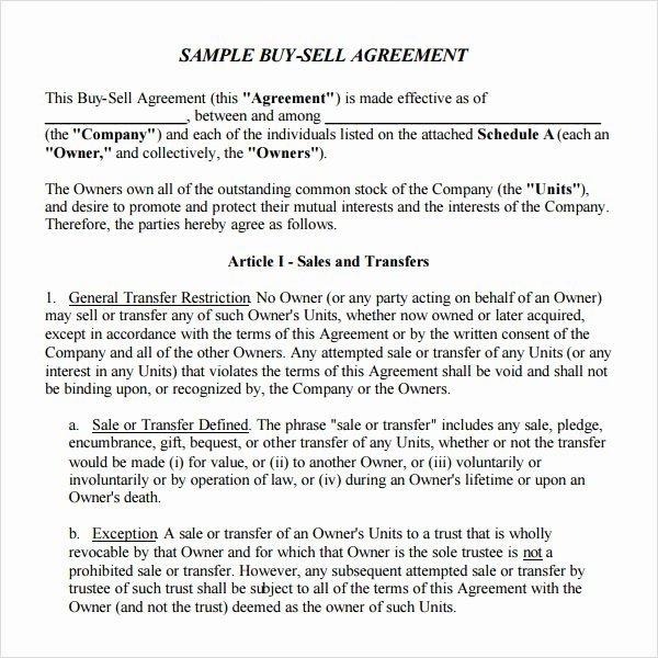 Simple Buy Sell Agreement Template Awesome 20 Sample Buy Sell Agreement Templates Word Pdf Pages