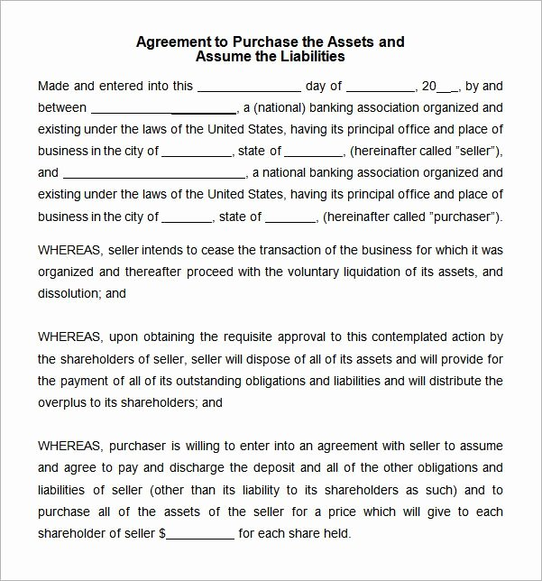 Simple Buy Sell Agreement Template Elegant asset Purchase Agreement Template Word