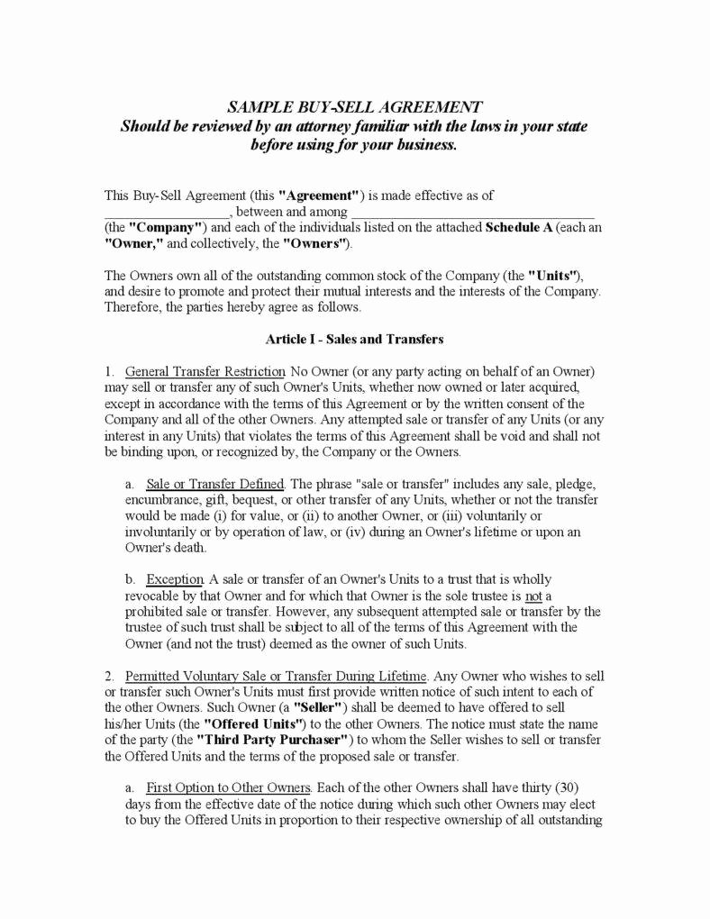 Simple Buy Sell Agreement Template Inspirational Understanding the 3 Fundamentals Of A Buy Sell Agreement