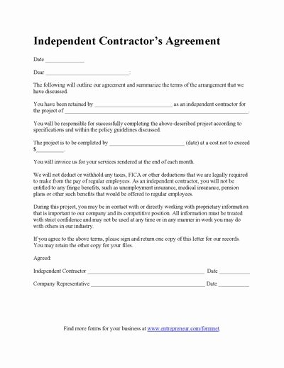 Simple Construction Contract Template Beautiful Construction Contract Template Contractor Agreement