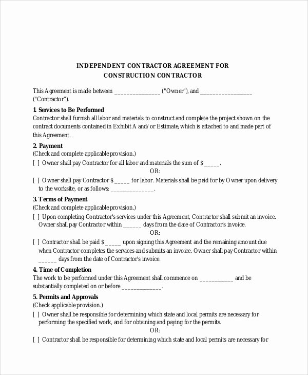 Simple Construction Contract Template New 13 Sample Construction Contract Agreements Word Pdf Pages