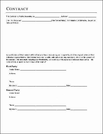 Simple Construction Contract Template New Simple Contract Agreement