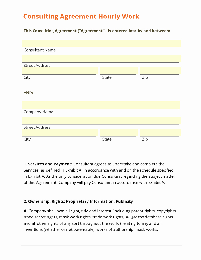 Simple Consulting Agreement Template Beautiful Sample Consultation Agreement