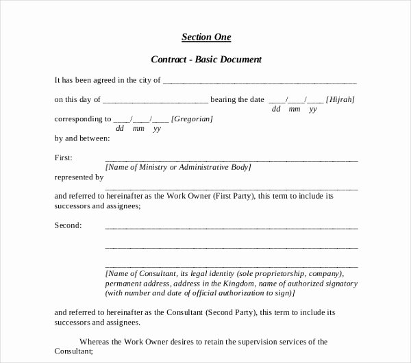 Simple Consulting Agreement Template Elegant 17 Consulting Contract Templates Word Pdf Apple Pages