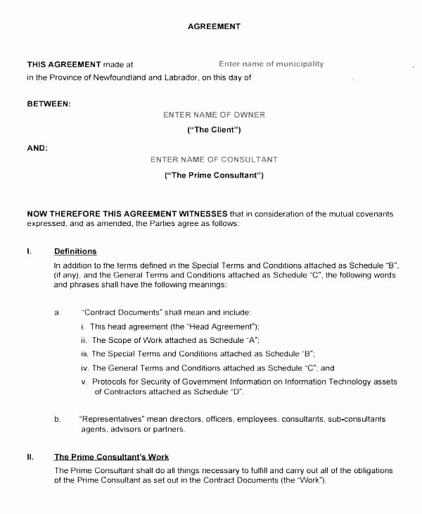 Simple Consulting Agreement Template Elegant Simple Consulting Agreement Template