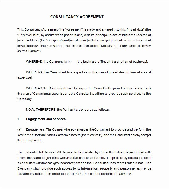 Simple Consulting Agreement Template New Create and A Marketing Agreement In Minutes Bonsai