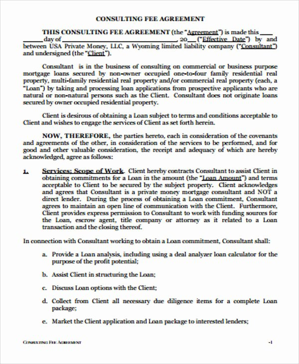 Simple Consulting Agreement Template Unique Simple Consulting Agreement Sample 13 Examples In Word Pdf