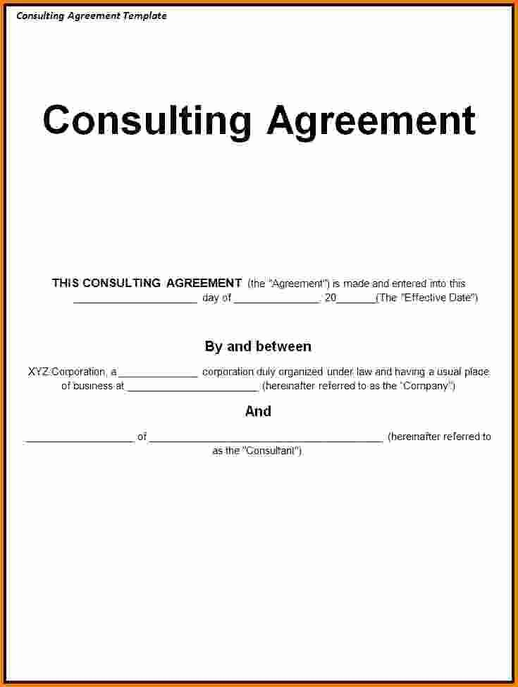 Simple Consulting Contract Template Awesome Consultant Retainer Agreement Sample Best Consulting