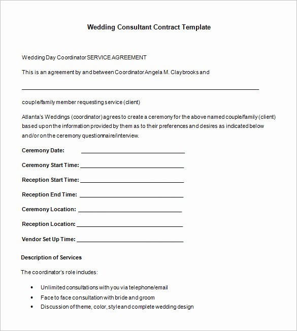 Simple Consulting Contract Template Inspirational 16 Consultant Contract Templates Word Google Docs Pdf