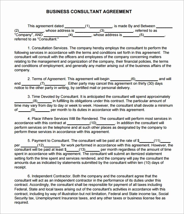 Simple Consulting Contract Template Inspirational Consulting Agreement 15 Pdf Doc Download