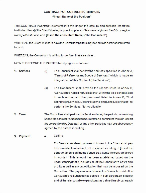 Simple Consulting Contract Template Luxury 17 Consulting Contract Templates Word Pdf Apple Pages