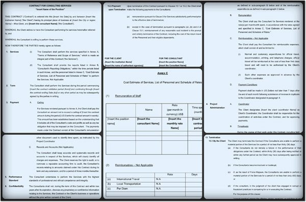Simple Consulting Contract Template Luxury Consultant Contract Template – 6 Free Samples In Pdf Word