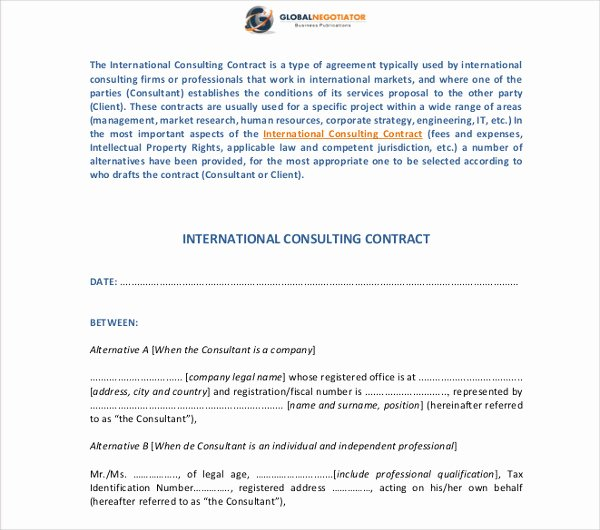 Simple Consulting Contract Template New 17 Consulting Contract Templates Word Pdf Apple Pages