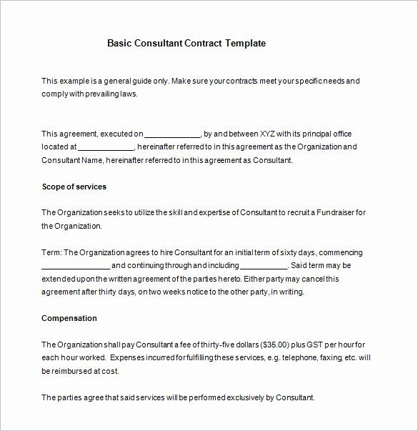 Simple Consulting Contract Template Unique 16 Consultant Contract Templates Word Google Docs Pdf