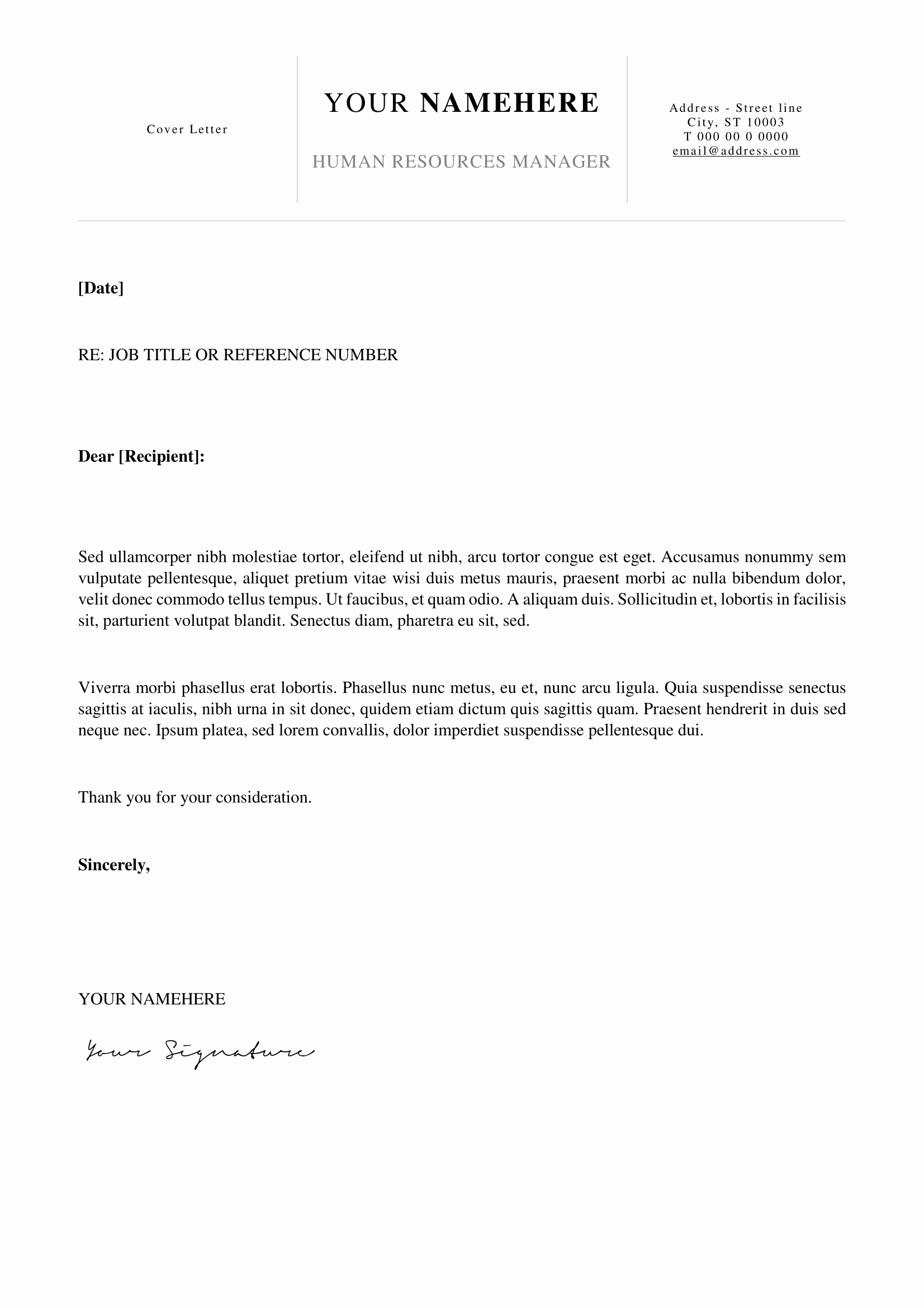 Simple Cover Letter Template Word Awesome Kallio Simple Resume Word Template Docx