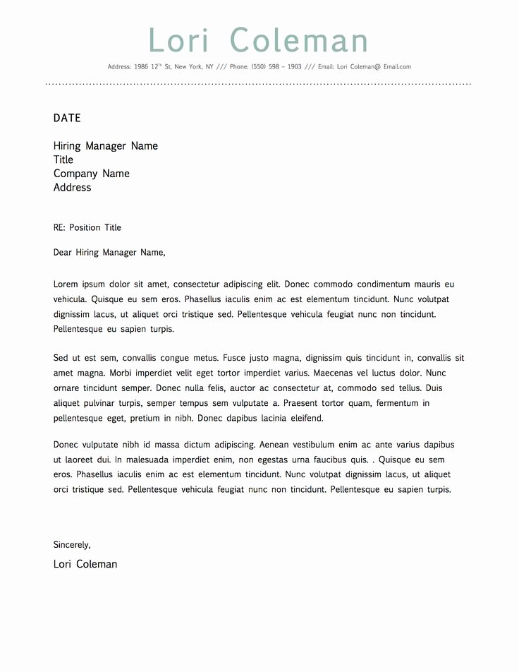 Simple Cover Letter Template Word Awesome Simple Beautiful Cover Letter Template for Microsoft Word