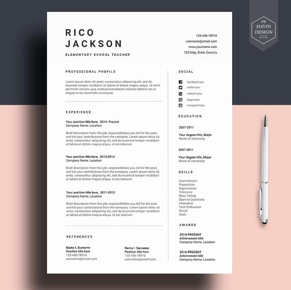 Simple Cover Letter Template Word Best Of Resume Template for Ms Word Cv Template with Free Cover